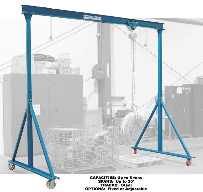 Adjustable Height Fixed Height Steel Gantry Cranes