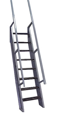ships ladder extented handrail