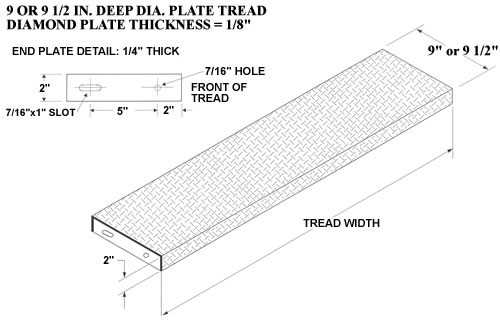 Diamond Plate Steel Stair Treads Galvanized Stair Treads